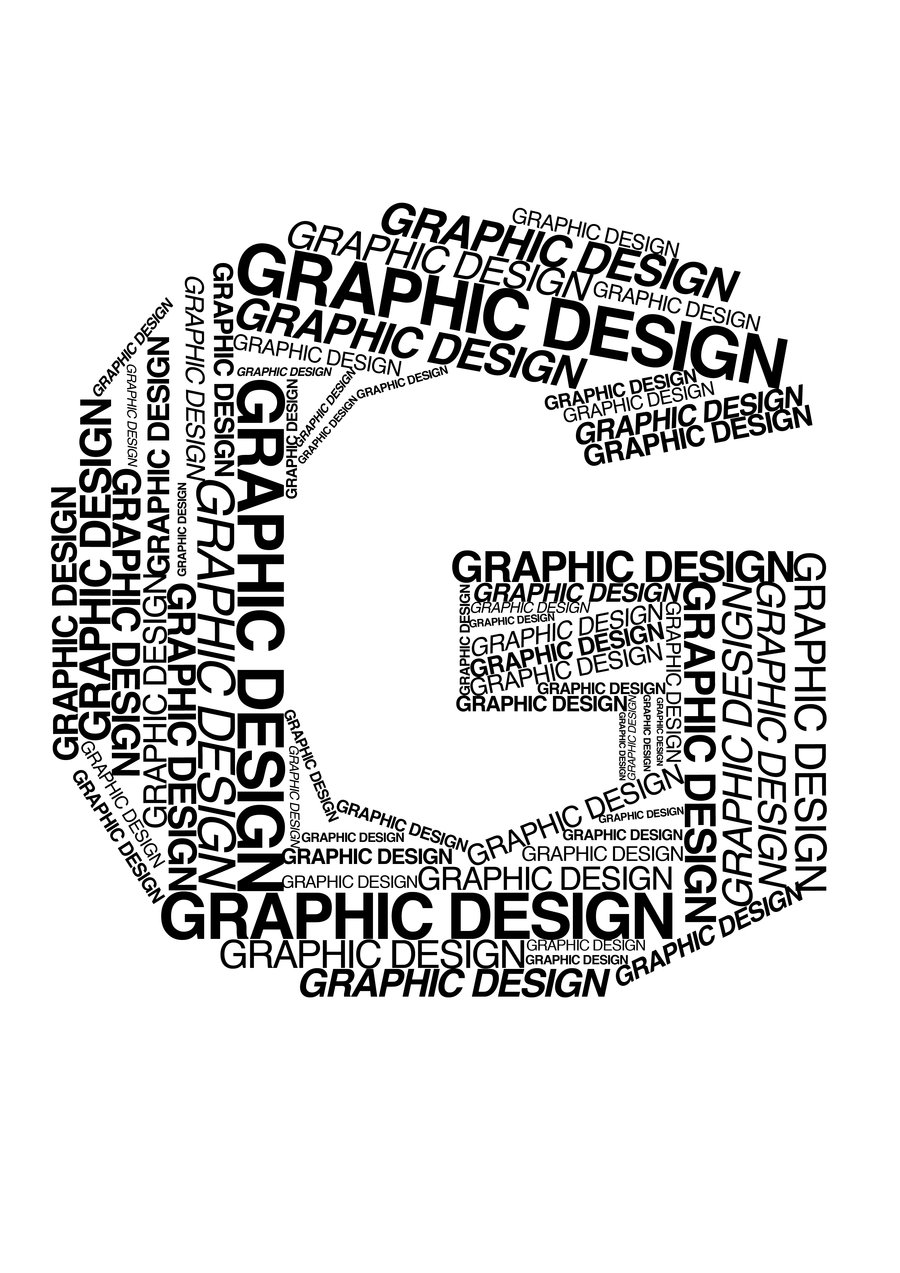 G Made Of Words Graphic Design